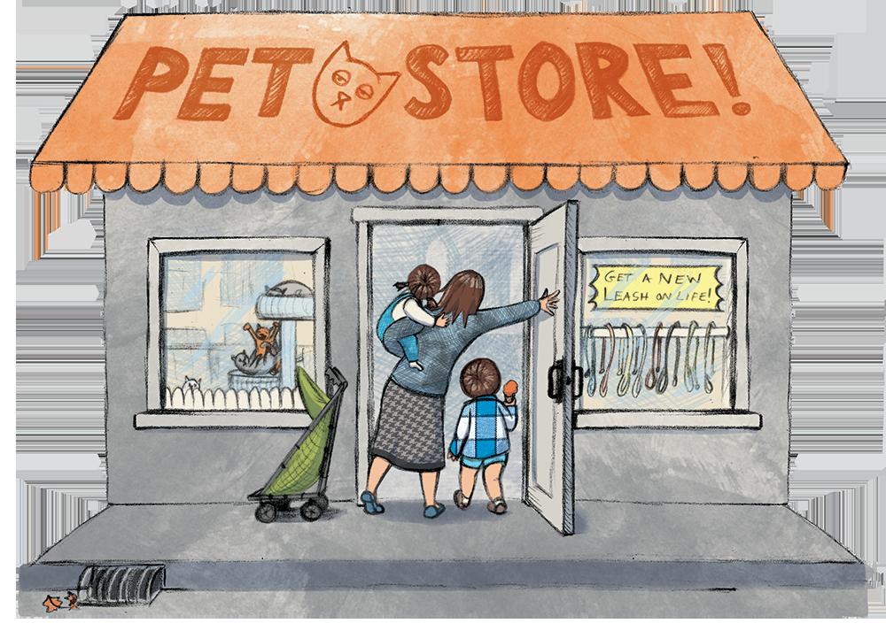 Pet shop great dane. Corgi clipart cartoon