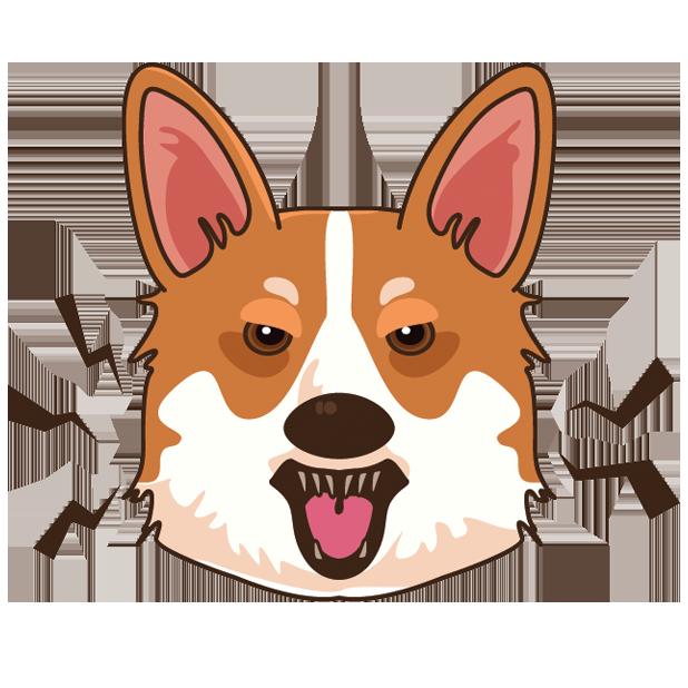 Corgimoj emoji stickers by. Corgi clipart simple