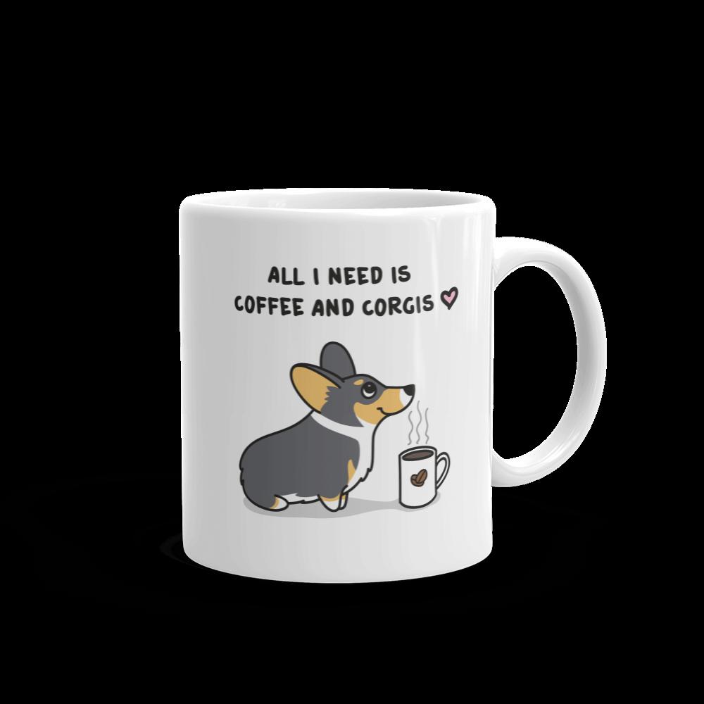Give a fluff coffee. Corgi clipart tricolor