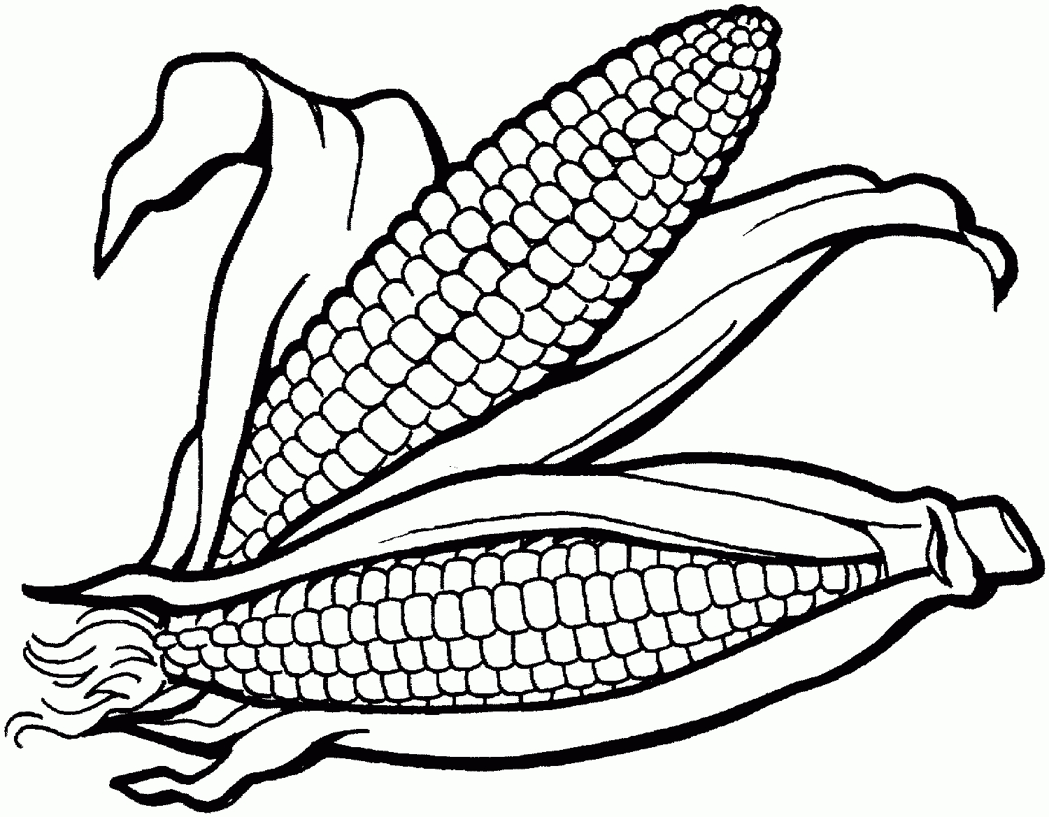 Corn clipart. Black and white jokingart