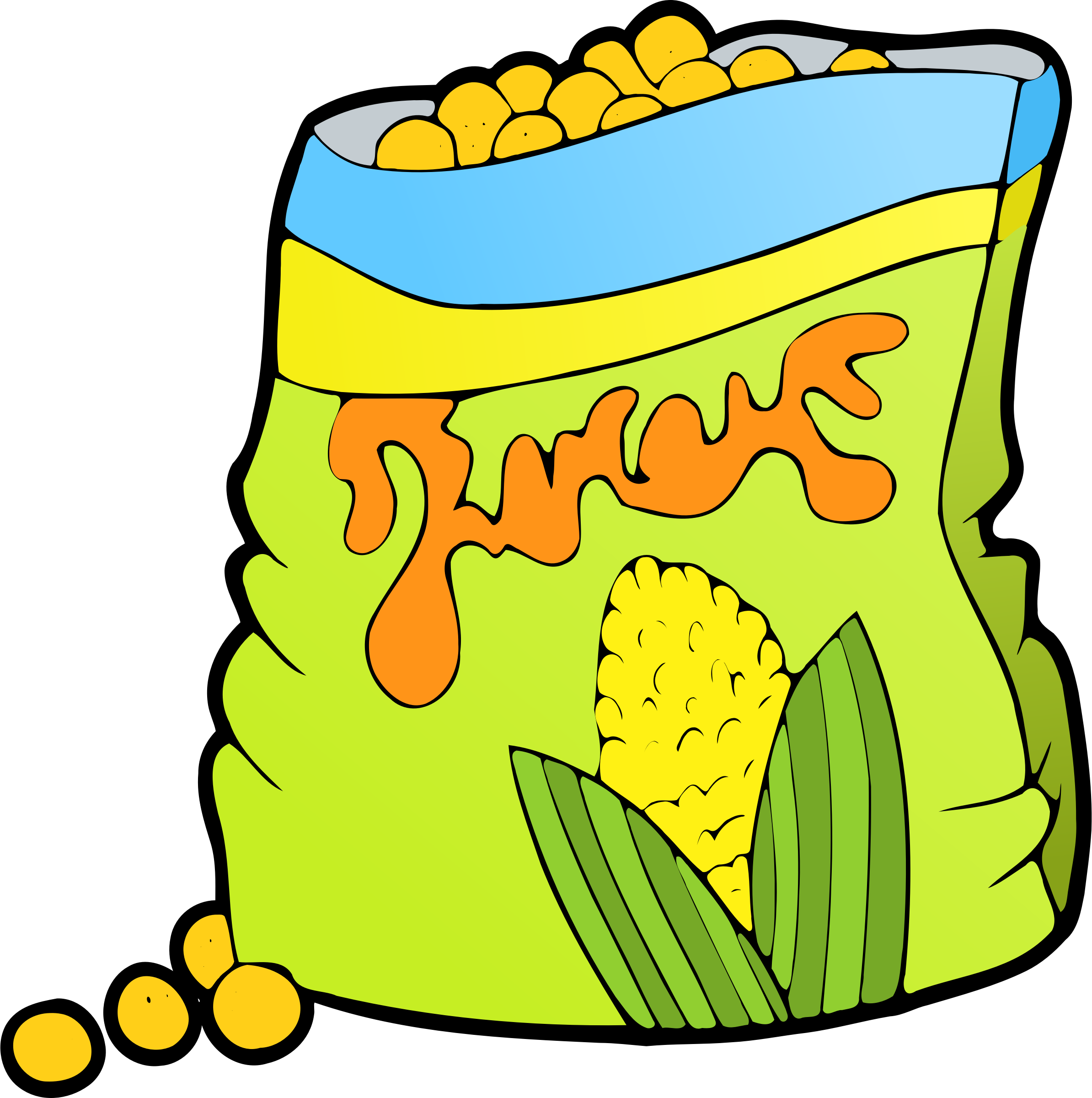 Pop clipart snack. Corn icons png free