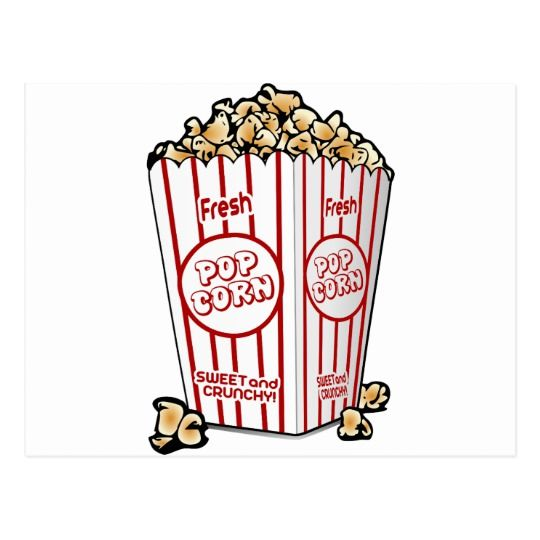 Popcorn corn food movie. Pop clipart snack