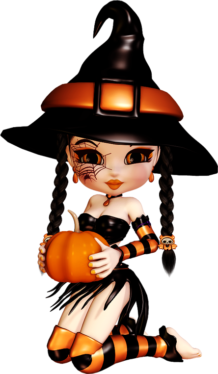Brujita halloween png fotos. Witch clipart crashed