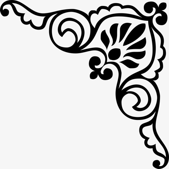 Traditional flower lace material. Corner clipart
