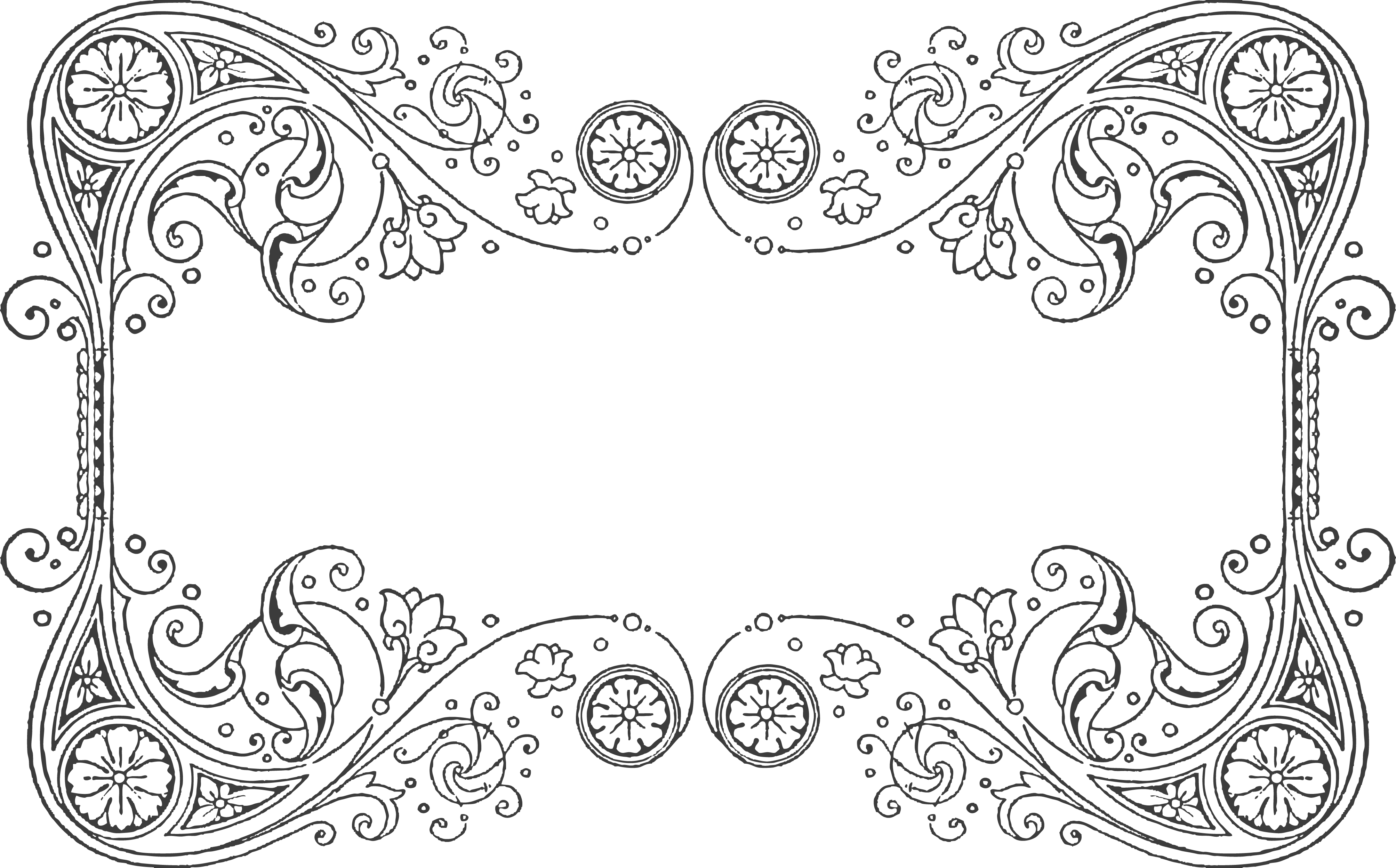 Filigree border png. Quilling design pattern for