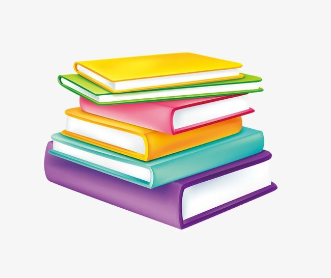 Color cartoon stacked together. Corner clipart books