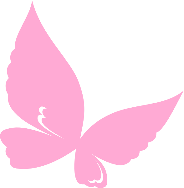 Wing clipart pink. Butterfly clip art small