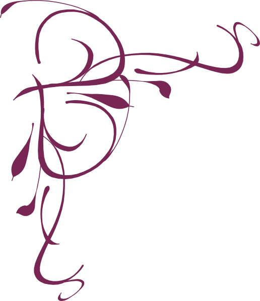 Floral swirl clip art. Vines clipart calligraphy