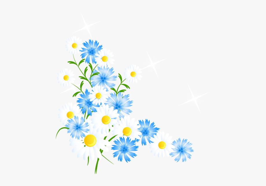 Flores spring flowers corner. Daisy clipart springtime flower