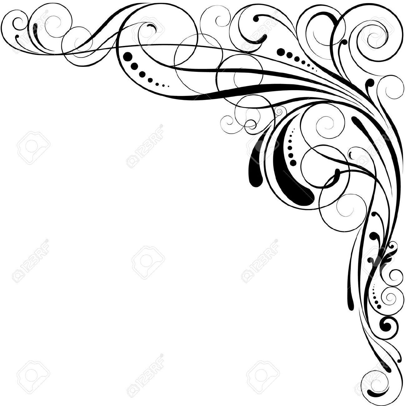 Lace clipart swirl. Filigree border free download