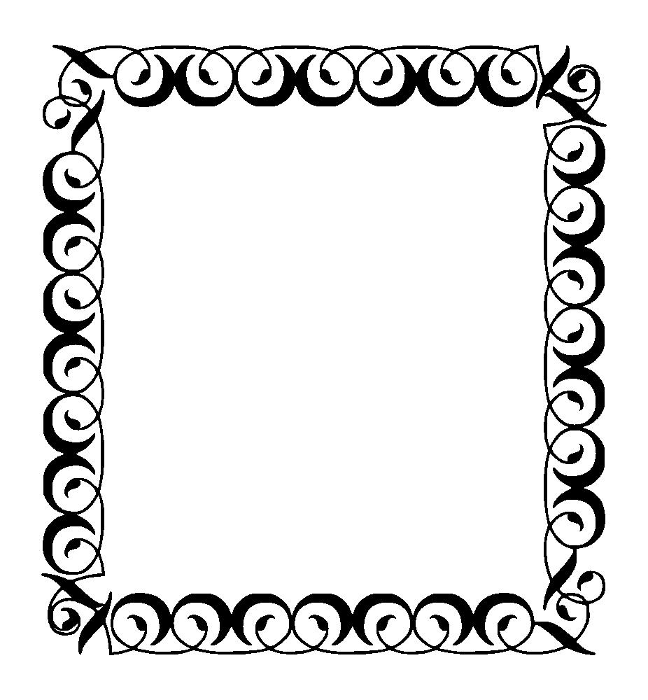 Onlinelabels clip art square. Filigree clipart simple