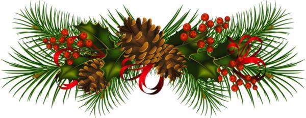 Free corner cliparts download. Poinsettia clipart pine garland