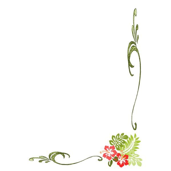 Corner clipart greenery. Simple borders clip art