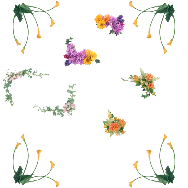Flower corners png by. Corner clipart greenery