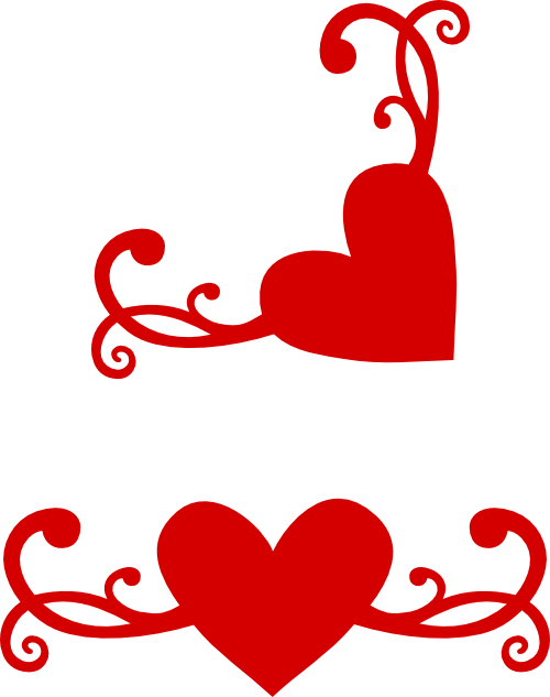 Flourish clipart heart. Another with matching corner