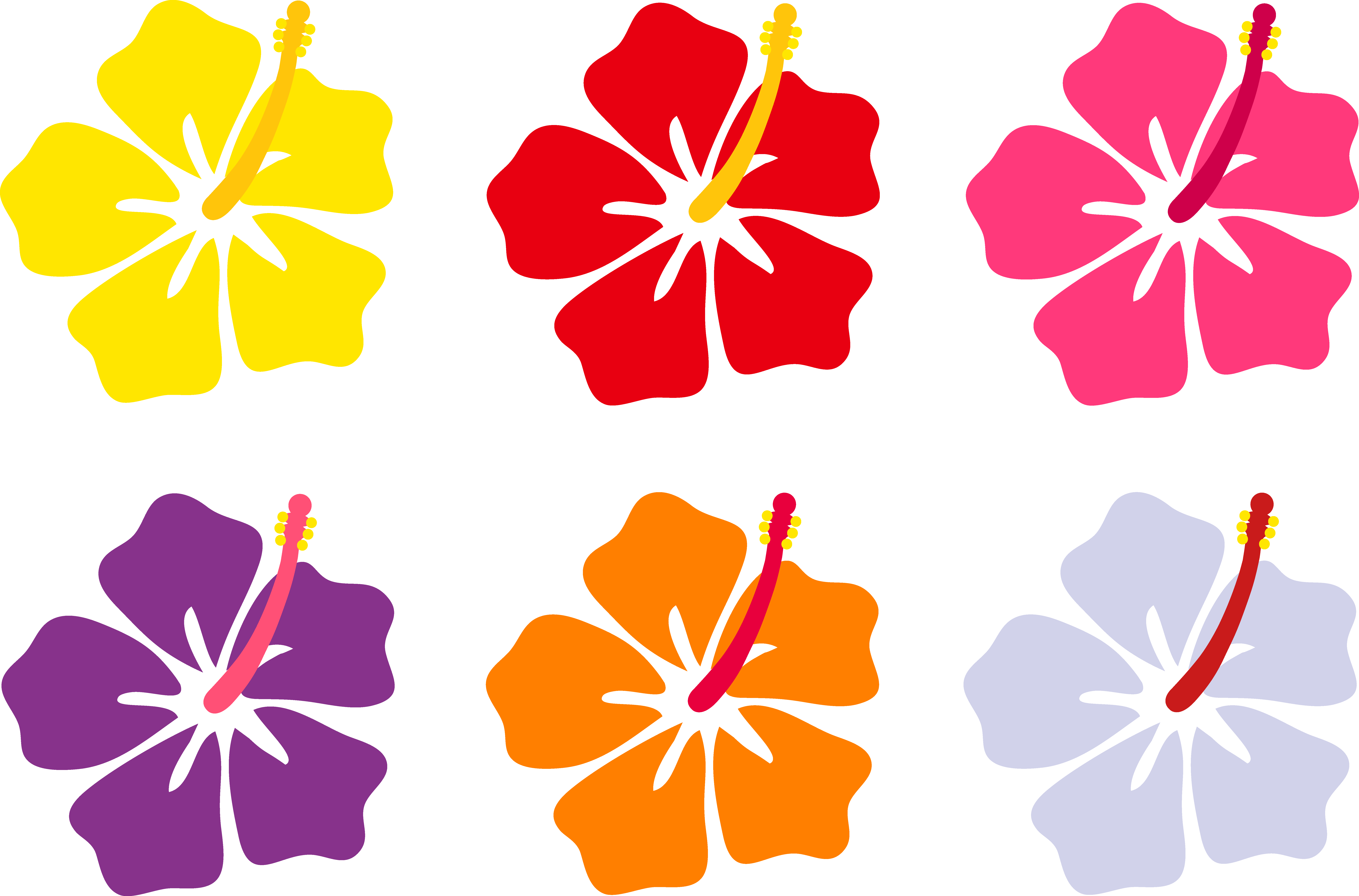 Hibiscus clipart simple. Flower cartoon great image