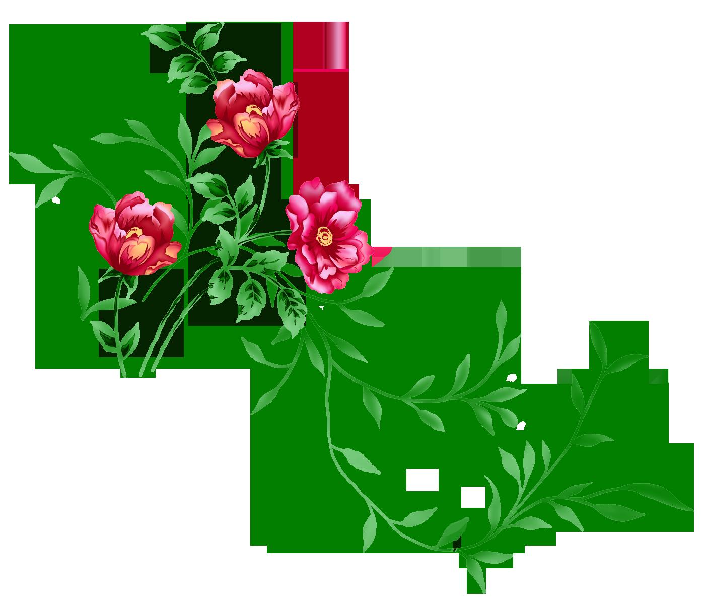 Floral clipart translucent. Red decor png transparent