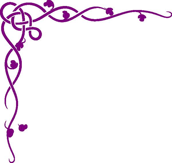 Purple clipart corner. Celtic vine clip art