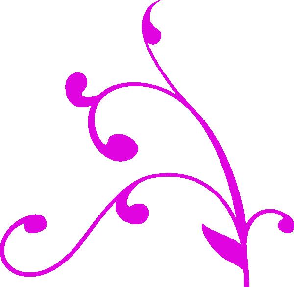 Corner clip art at. Decorative clipart purple