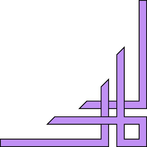 Purple corner clip art. Voting clipart border