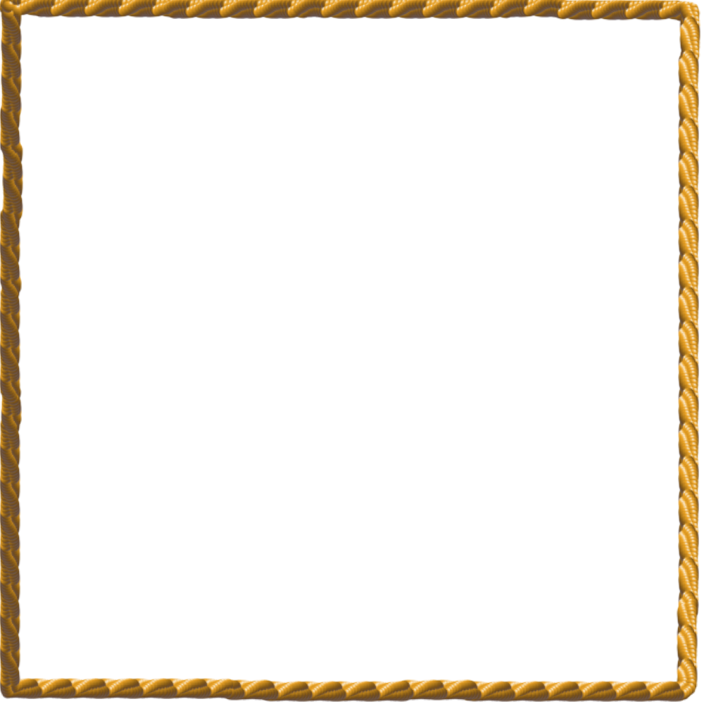 White border png frame. Square clipart rope