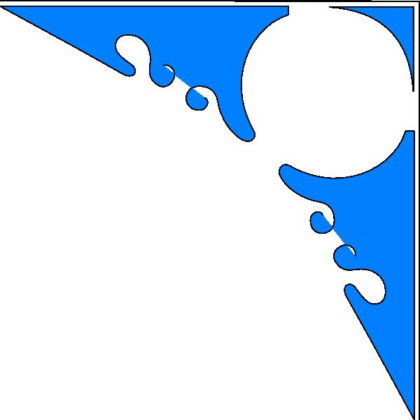 corner clipart royal blue