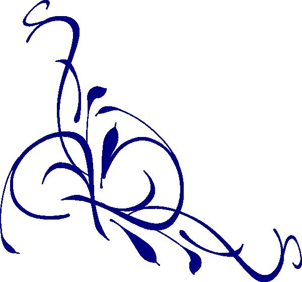 Navy swirl