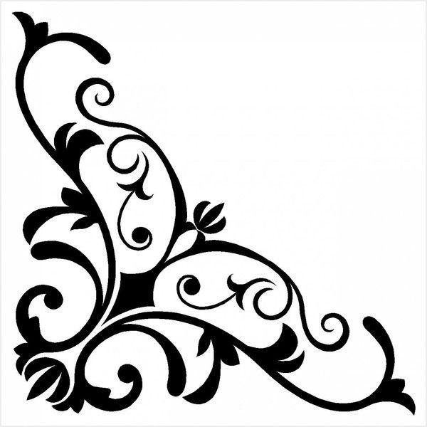 Corner clipart stencil. Pin by rebecca vessels