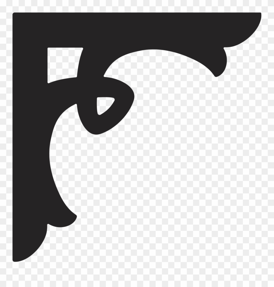 Scroll designs autocad dxf. Corner clipart stencil