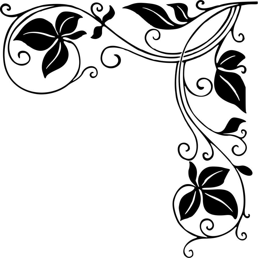 Download png designs clip. Corner clipart stencil