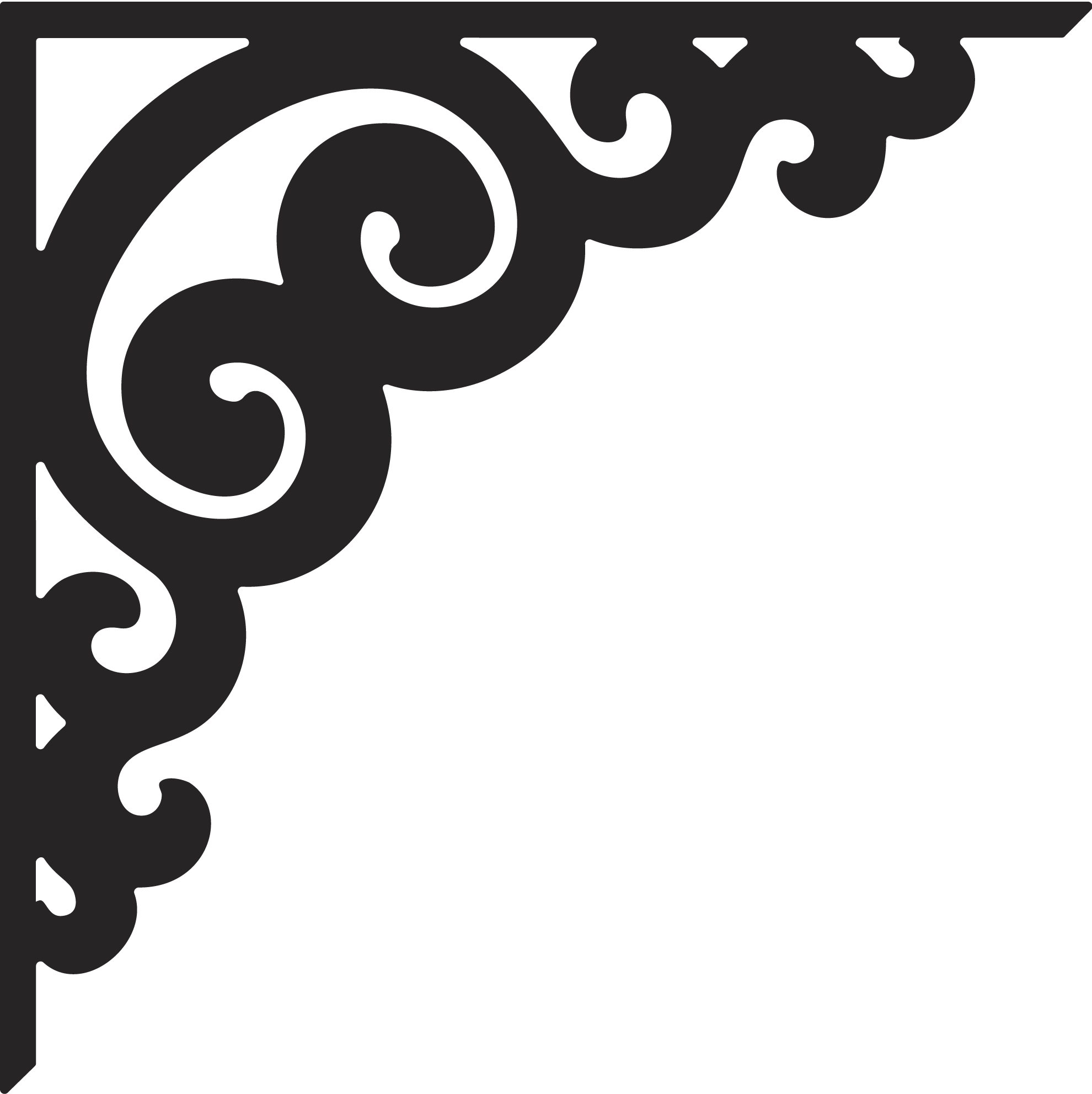 Corner clipart stencil. Moldes pinterest stenciling silhouettes