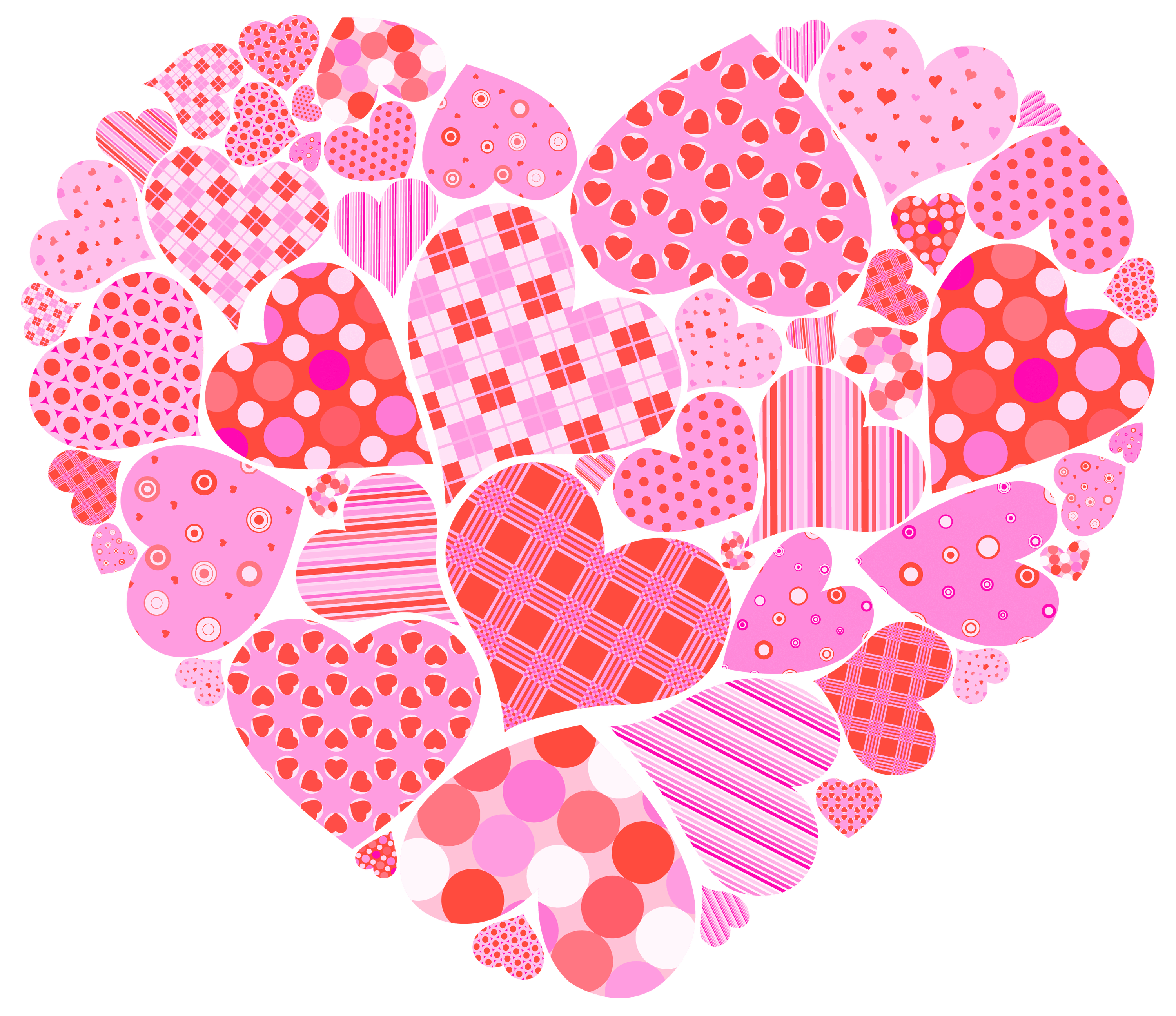 Very small hearts in. Valentine clipart transparent background