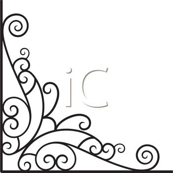 Decorative image looks like. Corner clipart victorian
