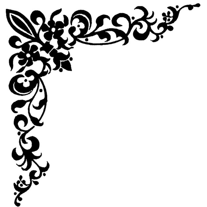 Free corner borders download. Lace clipart swirl