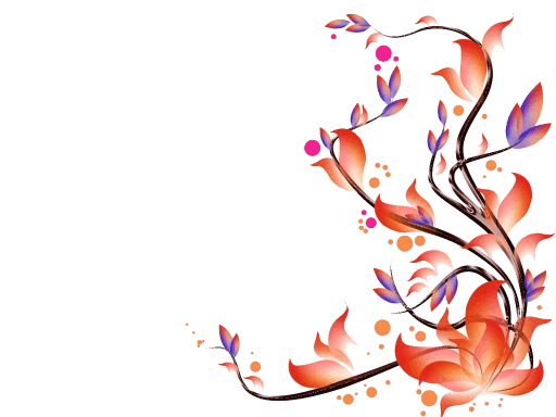 Flowers transparent stickpng. Corner frame png