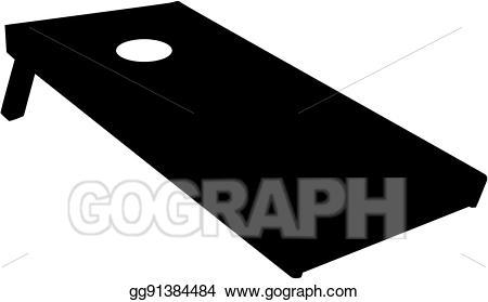 Vector stock board illustration. Cornhole clipart