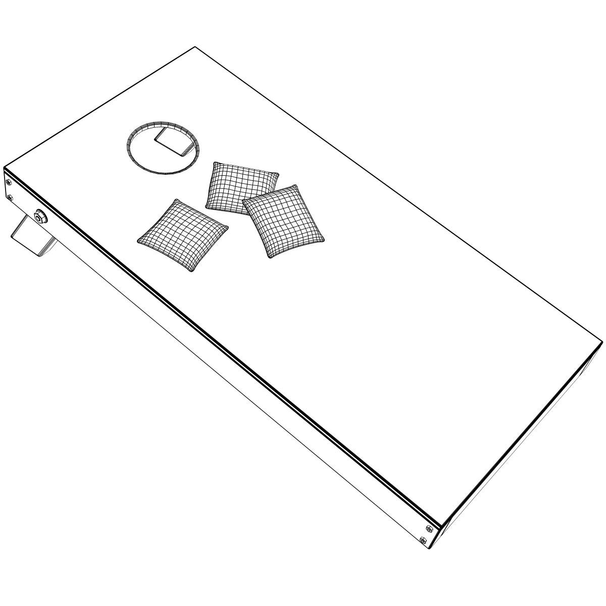 Cornhole clipart. Game d cgtrader model
