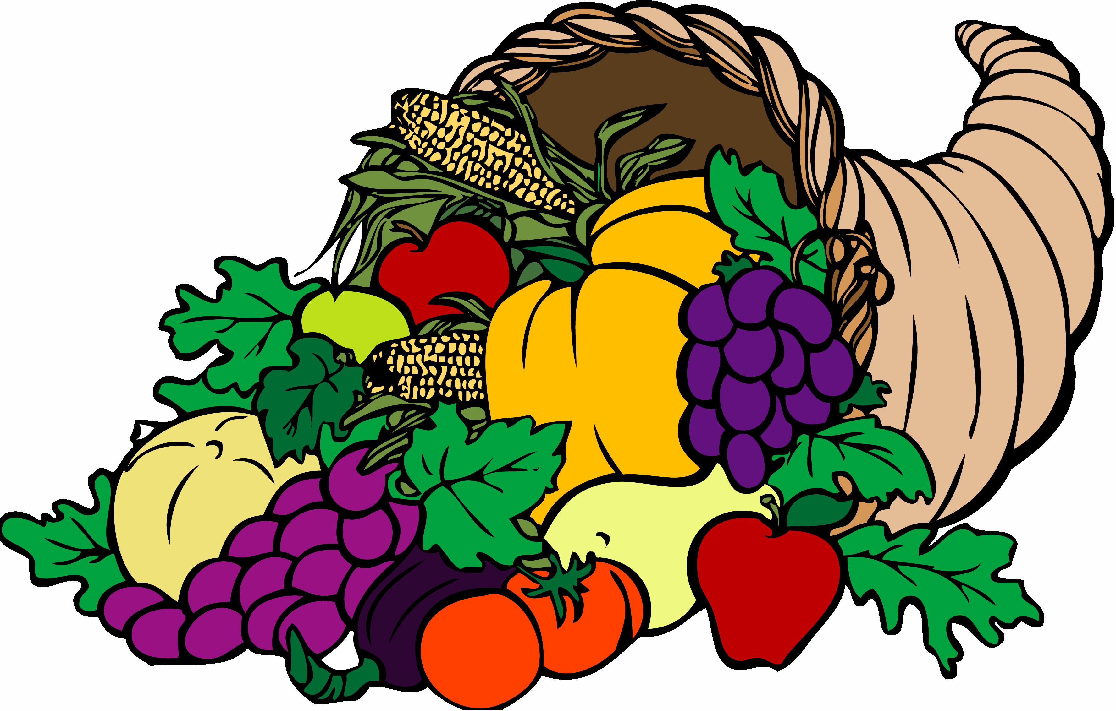 Cornucopia clip art borders. Grape clipart farmer