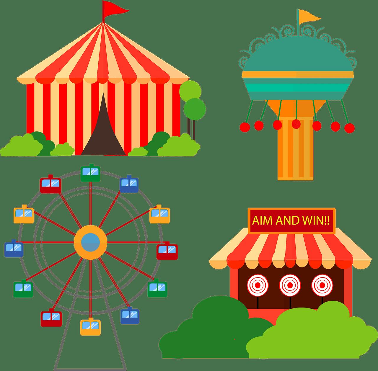 Fair carnival swing ride