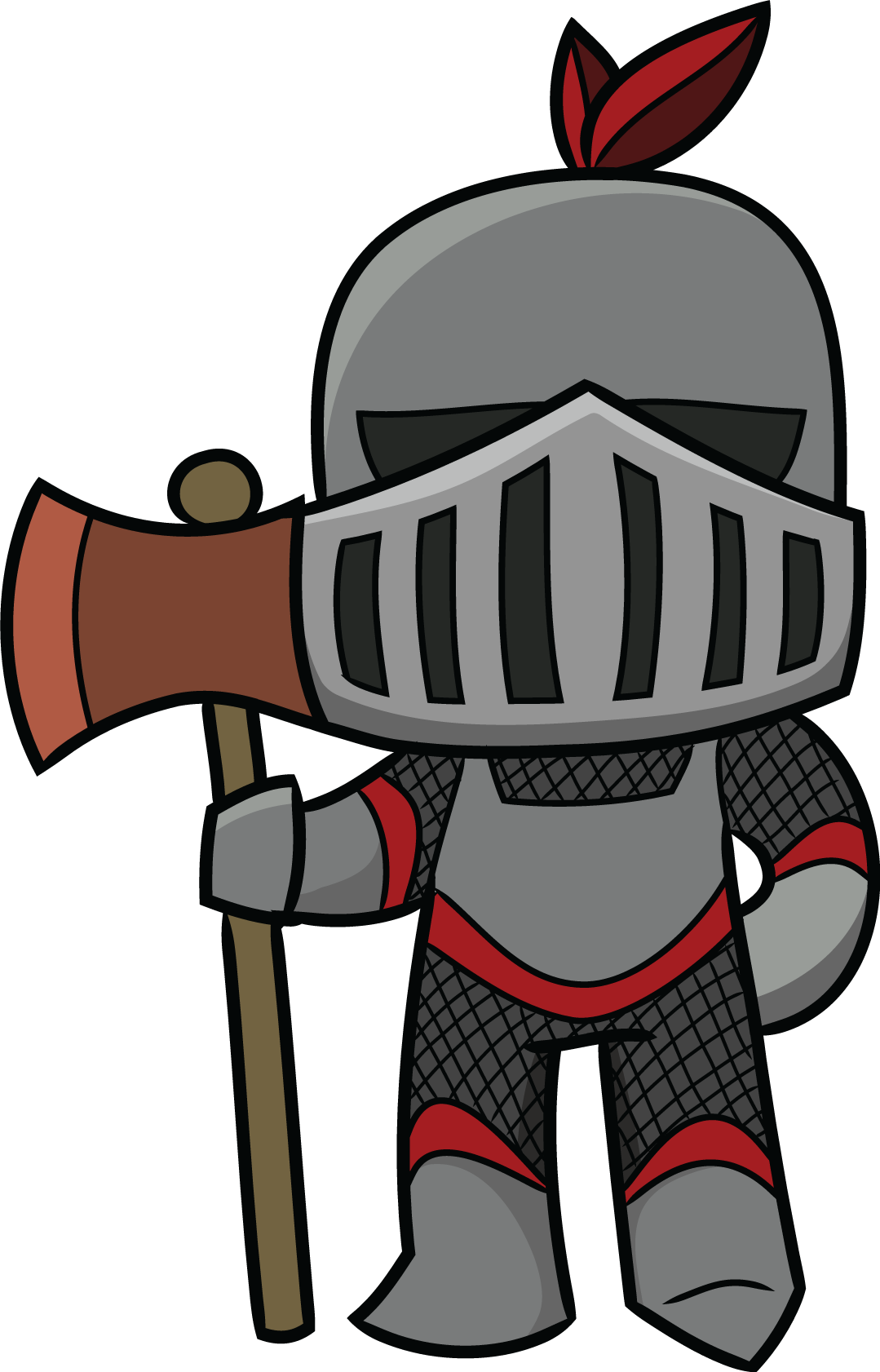 Middle ages group squires. 3 clipart knights