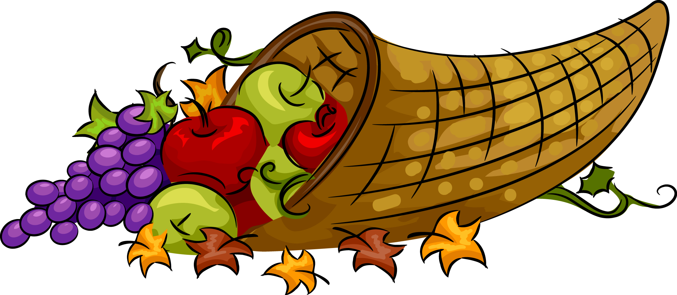 November clipart cornucopia. Thanksgiving at getdrawings com
