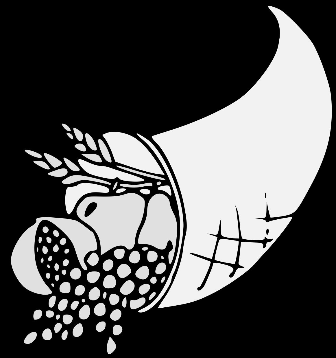 Cornucopia clipart plenty. Traceable heraldic art effluent