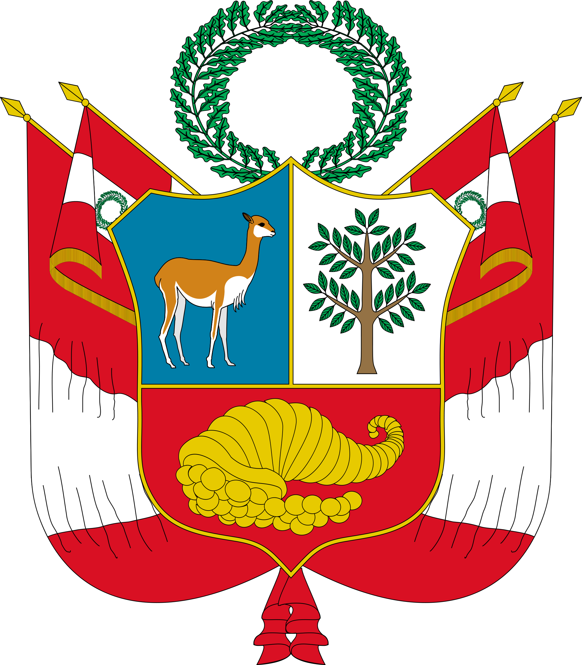 Shell clipart heraldry. Coat of arms peru