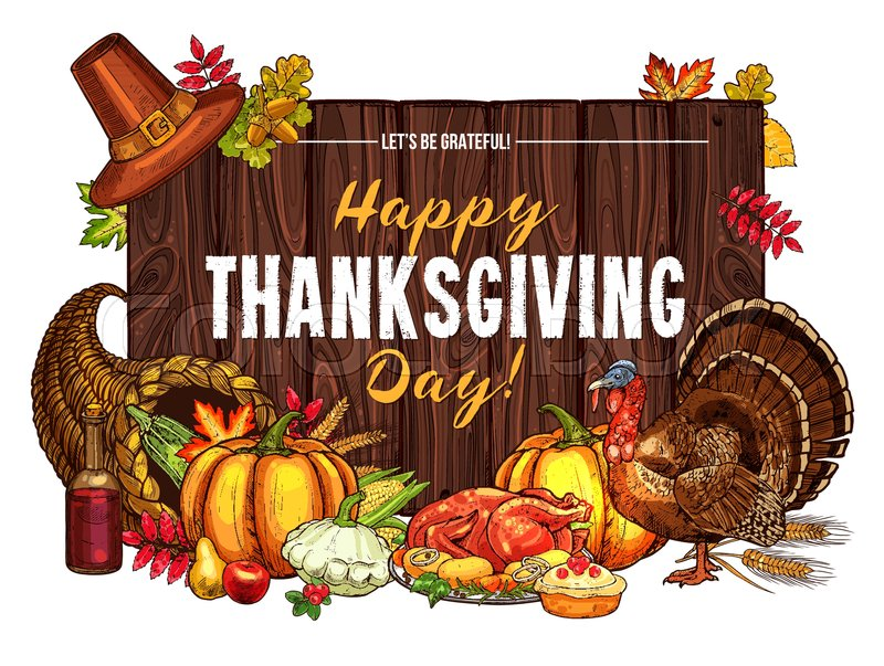Cornucopia clipart thanksgiving dinner. Download happy