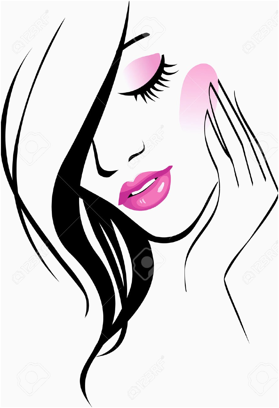 Beautiful top beauty clip. Cosmetology clipart