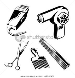 Hairdresser clipart hair stuff. Salon black art and