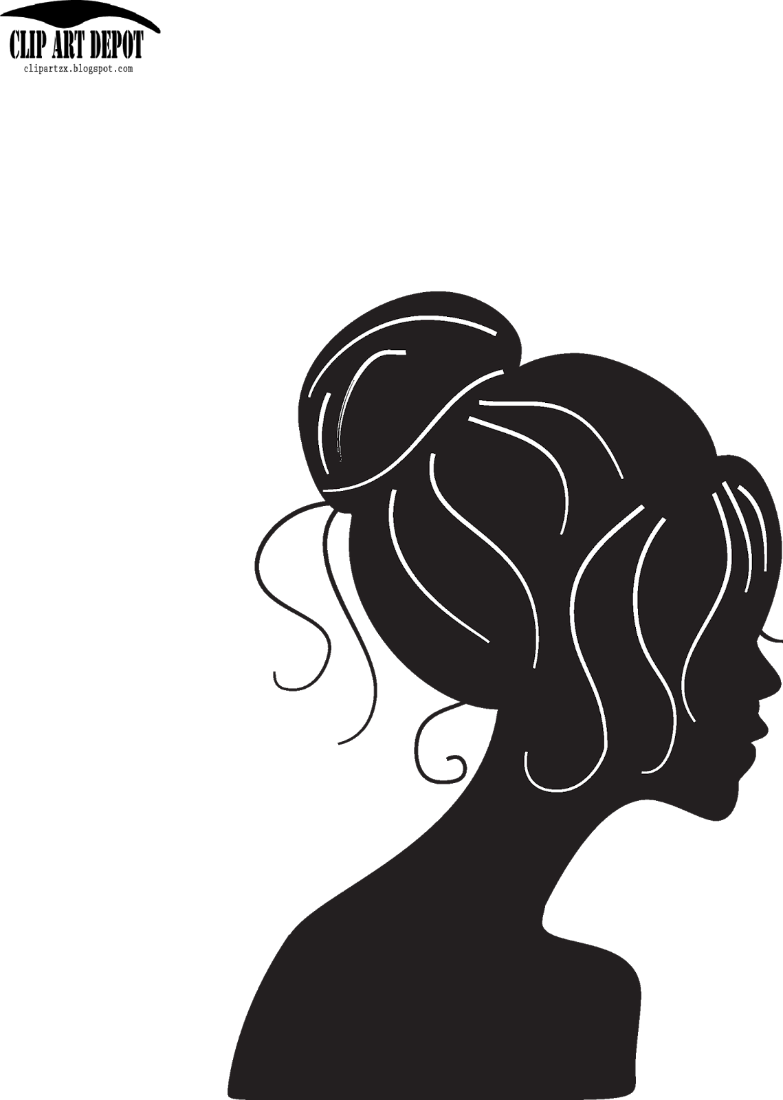 Faces clipart vector.  collection of beauty