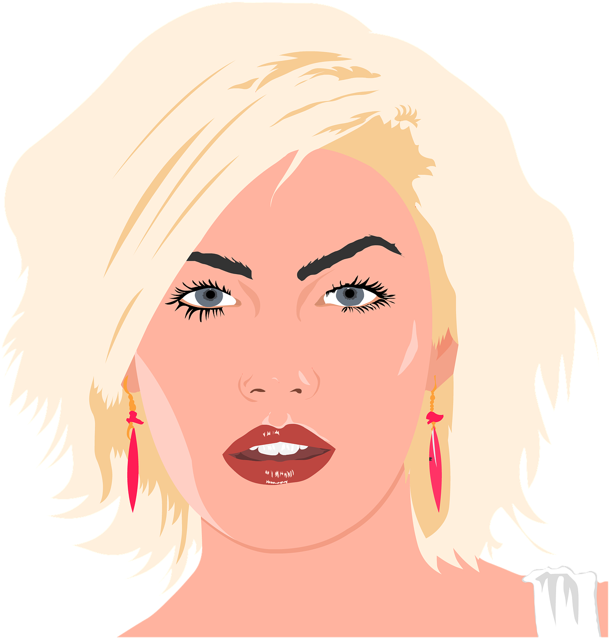 Cosmetology clipart beautiful woman. Blond cosmetologist beauty parlour
