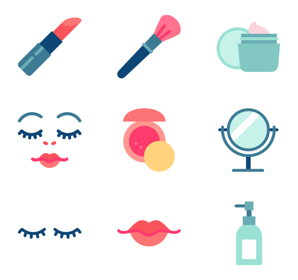 Lipstick clipart flat icon.  beauty packs vector