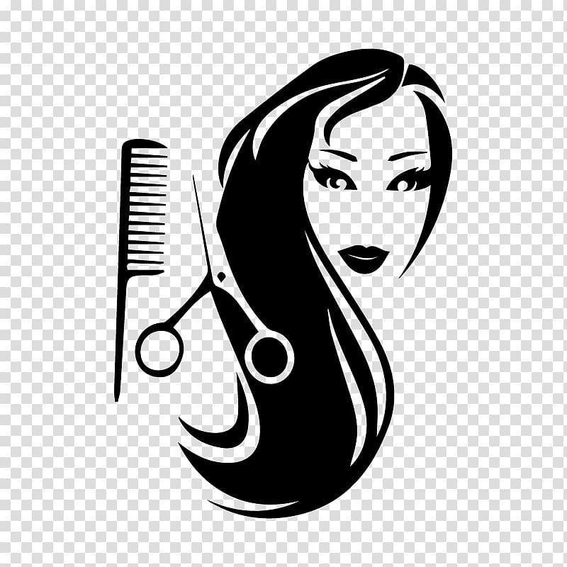 Comb hair cutting shears. Cosmetology clipart beauty shop